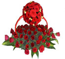 Send Designer Flower Basket with 100 Red Roses to Chennai Delivery.