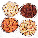 Pongal Gift with Mixed Dry Fruits  1 Kg. with  Pure Silver Bowls (Pistachio, Raisin, Cashew, Almond) to Chennai Delivery