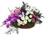 Designer orchid- rose Flowers Basket to Chennai Delivery