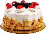 Send Cakes with 1Kg Black Forest Egg-less Cake to Chennai Delivery.
