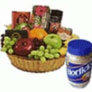 Fresh Fruit Basket with Horlicks  500 Gms and Britannia Biscuits 4 Packs to Chennai Delivery