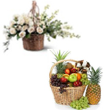 Send Condolence Flower Baslet with 5 Kg Fruit Basket to chennai delivery.