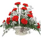 Thank you with Flowers- Red Carnation Basket to Chennai Delivery