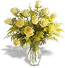 Pongal Gift with 12 Yellow Roses in a Vase to Chennai Delivery