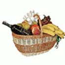 Fruits 3Kgs. with red wine in a Basket to Chennai Delivery
