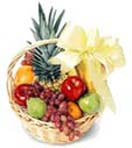 Combo Gifts with Fresh Fruits Basket 2 Kg decorated with Flowers to Chennai Delivery