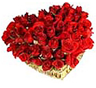 Send Valentine Gifts with 12 Red Roses Heart Shape Arrangement in Vase to chennai delivery
