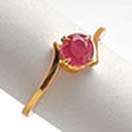 Jewelry Gift with Ring with Red Garnet to Chennai Delivery
