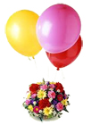 Mixed Flowers Basket with Balloons to Chennai Delivery