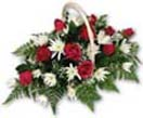 Wedding Gifts with Roses with Seasonal Flowers in a Basket to Chennai Delivery