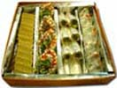 Congratulations with Kaju Burfi, Pista Roll & Pista Samosa (1 kg) to Chennai Delivery