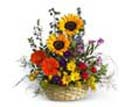 Thank you with Mixed Bright Flower Basket to Chennai Delivery